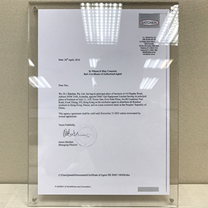 Batchen - Certificate of Authorized Agent