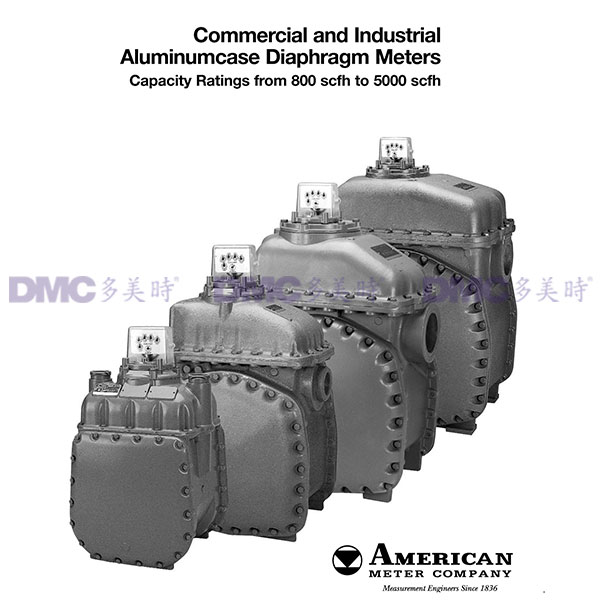 American Meter (AMCO) LPG Measuring Equipment Diaphragm Meters AL800 - AL5000